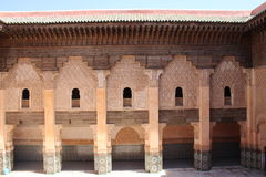 Courtyard of Ali Ben Youssef Madrasa Stock Images