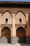 Courtyard of Ali Ben Youssef Madrasa, Marrakech Royalty Free Stock Photos