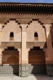 Courtyard of Ali Ben Youssef Madrasa, Marrakech. Morocco Royalty Free Stock Photos