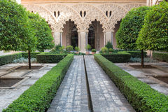 Courtyard in Aljaferia Palace, Saragossa Royalty Free Stock Image