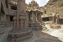Courtyard of ancient Jain temple Royalty Free Stock Images