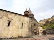 Courtyard of an ancient monastery Royalty Free Stock Image