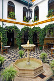 The courtyard of an Andalusian manor house, Cabra, Cordoba province, Spain Royalty Free Stock Photo