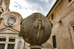 Courtyard of the Angel inside the Sant`Angelo castle. Stock Images