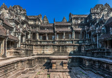 Courtyard Angkor Wat Cambodia Stock Photography