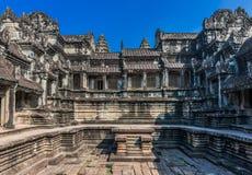 Courtyard Angkor Wat Cambodia Stock Photography