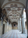 Courtyard of Archiginnasio  in Bologna Stock Photos