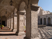 Courtyard at Arequipa, Peru Stock Photos