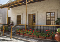 Courtyard in Arequipa, Peru Royalty Free Stock Photography