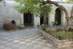 Courtyard at Arequipa, Peru Royalty Free Stock Photography