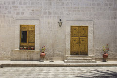 Courtyard in Arequipa, Peru. Royalty Free Stock Photography