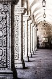 Courtyard in Arequipa Peru, South America. Stock Images