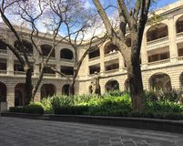 Courtyard of art. Courtyard of Secretary of Public Education in Mexico City which houses murals of Diego Rivera Stock Photos