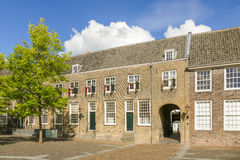 Courtyard of the Augustinian monastery in Dordrecht. Royalty Free Stock Images