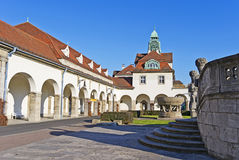 Courtyard of Bad Nauheim Royalty Free Stock Image