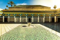 Courtyard in Bahia Palace,Marrakesh,Morocco.  Stock Photos