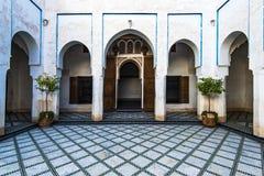 Courtyard in Bahia Palace,Marrakesh,Morocco.  Stock Photo