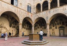 Courtyard in the Bargello, also known as the Museo Nazionale in Royalty Free Stock Photography