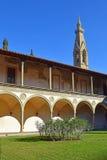 Courtyard of basilica Santa Croce in Florence, Italia Royalty Free Stock Photo