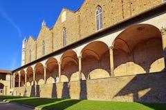 Courtyard of basilica Santa Croce in Florence, Italia Royalty Free Stock Image