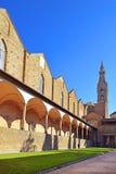 Courtyard of basilica Santa Croce in Florence, Italia Stock Photo