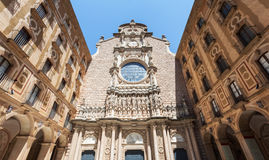 The courtyard of the Benedictine monastery of Santa Maria de Montserrat Stock Photography