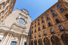 The courtyard of the Benedictine monastery of Santa Maria de Montserrat Royalty Free Stock Photos