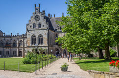 Courtyard of the Bentheim castle Stock Photography