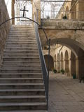 Courtyard in Bethlehem. The Church of the Nativity in Bethlehem is one of the oldest continuously operating churches in the world. The structure is built over Royalty Free Stock Photos