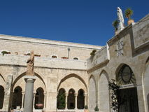 Courtyard in Bethlehem Stock Photography