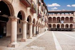 The courtyard bishops Castle Siguenza. Castillo de los Obispos d Royalty Free Stock Images