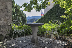 Courtyard of the Bled Castle, Slovenia Stock Photo