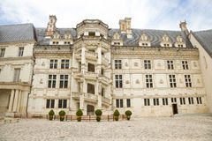 Courtyard of Blois Chateau, France Stock Photography