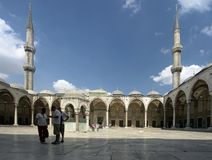 Courtyard of the Blue Mosque Royalty Free Stock Photography