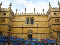 Courtyard of Bodleian library Stock Images