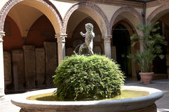 Courtyard in Bologna Italy Stock Image