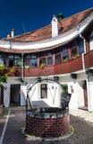 Courtyard of Brasov Hilltop Fortress, Romania Stock Photos