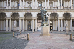 Courtyard of Brera Academy in Milan, Italy Stock Image