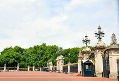 Courtyard of Buckingham Palace Stock Images