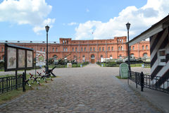 Courtyard and building of the Military and historical museum of Royalty Free Stock Photos