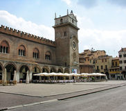 Courtyard cafe in Mantova Royalty Free Stock Image