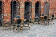 Courtyard cafe Stock Image