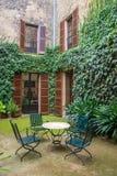 Courtyard cafe. Stock Photo