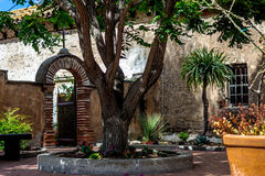 Courtyard in a California Mission. A courtyard in a California Mission with early morning soft light Stock Image
