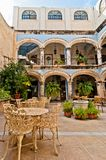 Courtyard in Campeche, Mexico Stock Image