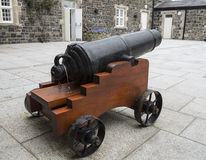 Courtyard cannon Royalty Free Stock Images