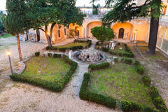 Courtyard of Capitoline Museums in Rome city Stock Image