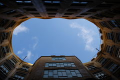 Courtyard of Casa Mila Royalty Free Stock Photos