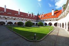 Courtyard in castel Topolcianky Royalty Free Stock Photos