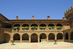 Courtyard of castle Stock Image